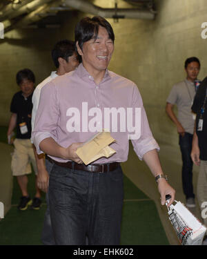 Tampa, Florida, USA. 12th Mar, 2015. Hideki Matsui (Yankees) MLB : Major League Baseball Spring Training game between - Stock Photo