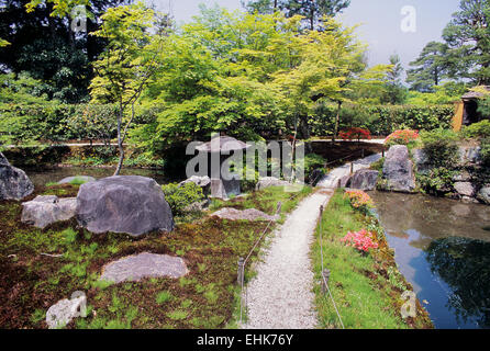 The City of Kyoto is a unique reserve for ancient Zen gardens and shrines that are over nine hundred years old. - Stock Photo
