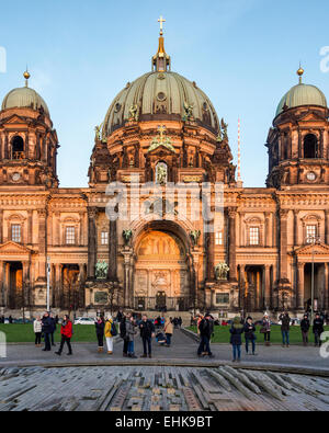 Berliner Dom, Berlin Dome, Green Dome of Baroque Protestant Cathedral on Museum Island, Museuminsel, Am Lustgarten, - Stock Photo