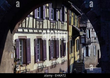 Ammerschwihr village. Haut-Rhin. Alsace. France - Stock Photo
