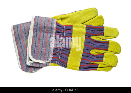 Work gloves with clipping path - Stock Photo