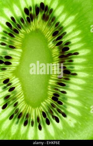 Kiwi slice macro background - Stock Photo