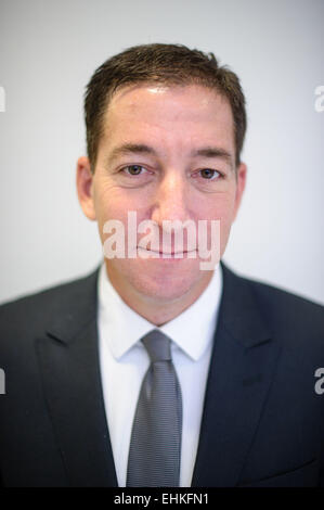 Homburg, Germany. 15th Mar, 2015. The US investigative journalist Gleen Greenwald photographed in the cultural centre - Stock Photo