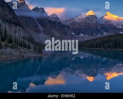 Moraine Lake. Banff National Park. Alberta Canada. - Stock Photo