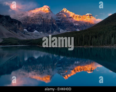 Moraine Lake. Banff National Park. Alberta Canada. - Stock Photo