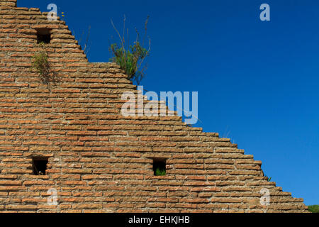Historical brick wall in Rome, Italy - Stock Photo