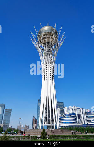 Bayterek is a monument and observation tower in Astana - Stock Photo