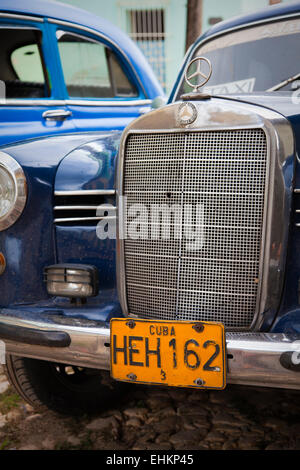 Detail on classic car, Trinidad, Cuba - Stock Photo