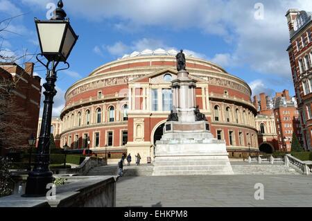 Exterior of the Royal Albert Hall Kensington London - Stock Photo