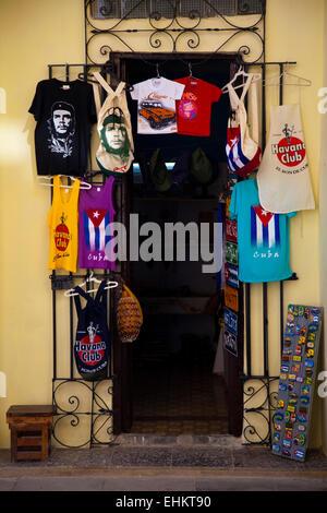 Souvenirs for sale at a tourist site in Cuba - Stock Photo