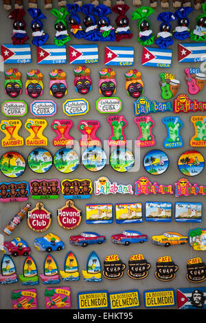 Fridge magnets for sale at a tourist site in Cuba - Stock Photo