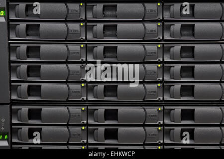 Stacks of hard disk drives for network storage. - Stock Photo