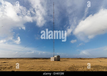 broadcast tower in Grindavik, Iceland - Stock Photo