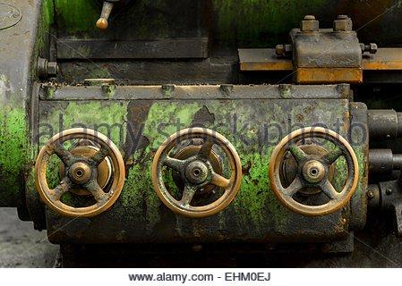 Industrial gate valves - Stock Photo