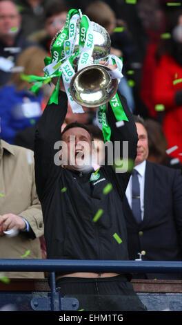 Hampden Park, Glasgow, Scotland. 15th Mar, 2015. Scottish League Cup Final. Dundee United versus Celtic. Ronny Deila - Stock Photo