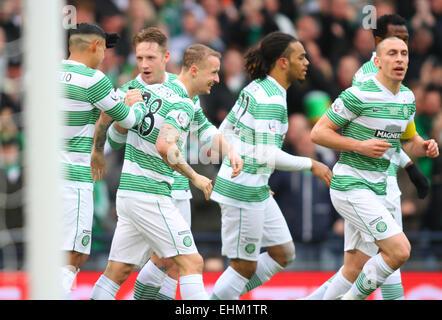 Hampden Park, Glasgow, Scotland. 15th Mar, 2015. Scottish League Cup Final. Dundee United versus Celtic. Kris Commons - Stock Photo