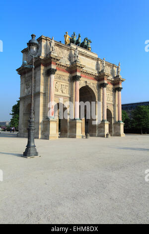Arc de Triomphe du Carrousel, Paris, France - Stock Photo