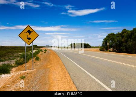 Typical Australian road sign, Western Australia - Stock Photo