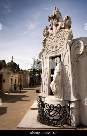 Argentina, Buenos Aires, Recoleta Cemetery, Rufina Cambaceres tomb - Stock Photo