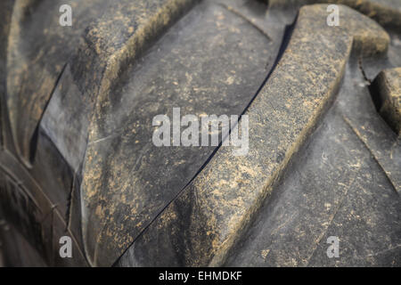 Close up of worn out rubber tire - Stock Photo