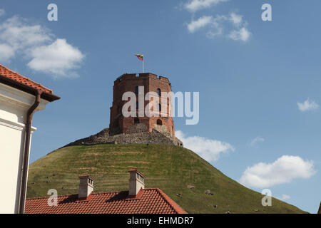 Gediminas Tower in Vilnius, Lithuania. - Stock Photo