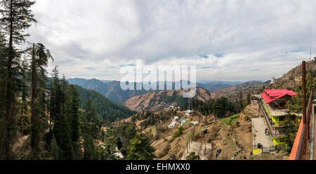 Mountain view near Shimla, Himachal Pradesh, India - Stock Photo