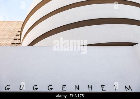 Solomon R. Guggenheim museum, New York City, USA. - Stock Photo