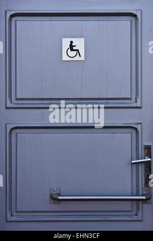 entrance of a toilet for disabled people - Stock Photo
