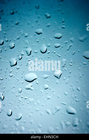 background of drops of water on glass - Stock Photo