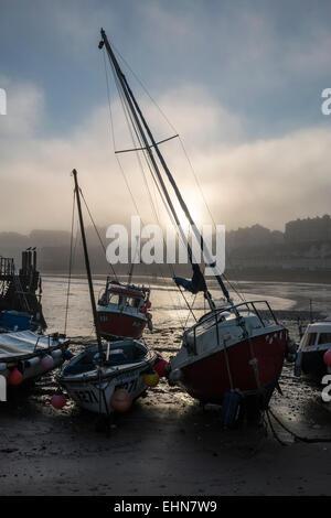 Boats on the beach. - Stock Photo