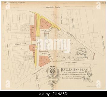 Berichte der Wiener Stadtverwaltung, 1873ff, div. Pläne und Ansichten 15 - Stock Photo