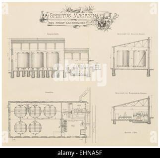 Berichte der Wiener Stadtverwaltung, 1873ff, div. Pläne und Ansichten 19 - Stock Photo
