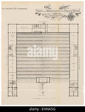Berichte der Wiener Stadtverwaltung, 1873ff, div. Pläne und Ansichten 20 - Stock Photo