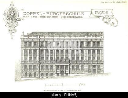 Berichte der Wiener Stadtverwaltung, 1873ff, div. Pläne und Ansichten 01 - Stock Photo