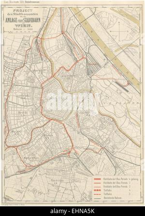 Berichte der Wiener Stadtverwaltung, 1873ff, div. Pläne und Ansichten 07 - Stock Photo