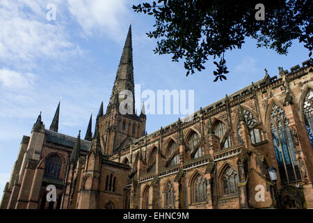 Lichfield Cathedral, Staffordshire, England, UK. - Stock Photo