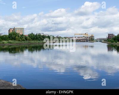 River Lagan, Belfast - Stock Photo