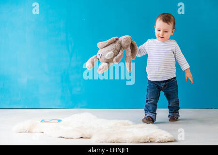 18 month-old baby boy. - Stock Photo
