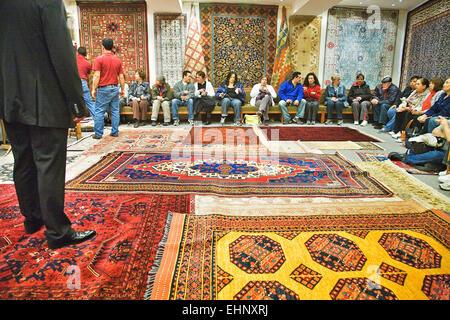 Carpet Shop In Grand Bazaar Istanbul Turkey Stock Photo