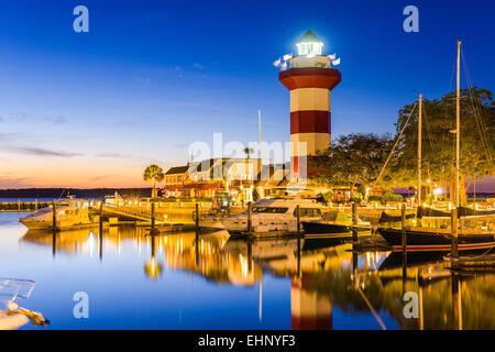 Hilton Head, South Carolina, USA at the Lighthouse. - Stock Photo