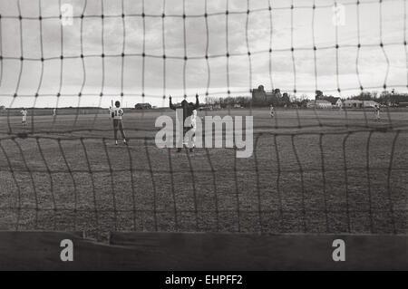 A high school baseball game between Makoti, North Dakota and Coal Harbor, North Dakota - Stock Photo