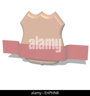 Classical sheild isolated on the white - Stock Photo