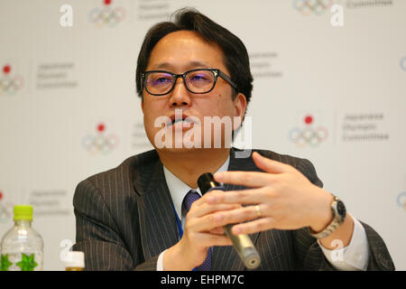 Shuichi Takano, MARCH 16, 2015 : Management seminars for sports organizations are held at Ajinomoto National Training - Stock Photo