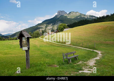 view from Puchen, Altaussee towards Loser - Stock Photo
