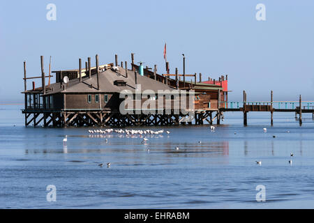 Raft Restaurant, Walvis Bay, Namibia - Stock Photo