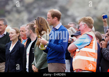 Prince William and Duchess of Cambridge, Ring O Fire; Anglesey Coastal Marathon - Stock Photo
