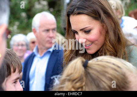 Duchess of Cambridge, Ring O Fire; Anglesey Coastal Marathon - Stock Photo