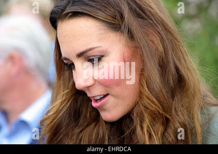 Duchess of Cambridge, Ring O Fire; Anglesey Coastal Marathon - Stock Photo