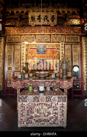 The Ee Kok Tong, the ancestral hall in the Khoo Kongsi Clan House George Town Penang Malaysia - Stock Photo