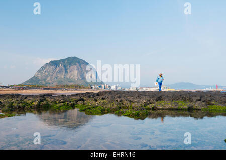 Asia, Republic of Korea, South Korea, Jeju island, Mt Sanbangsan - Stock Photo